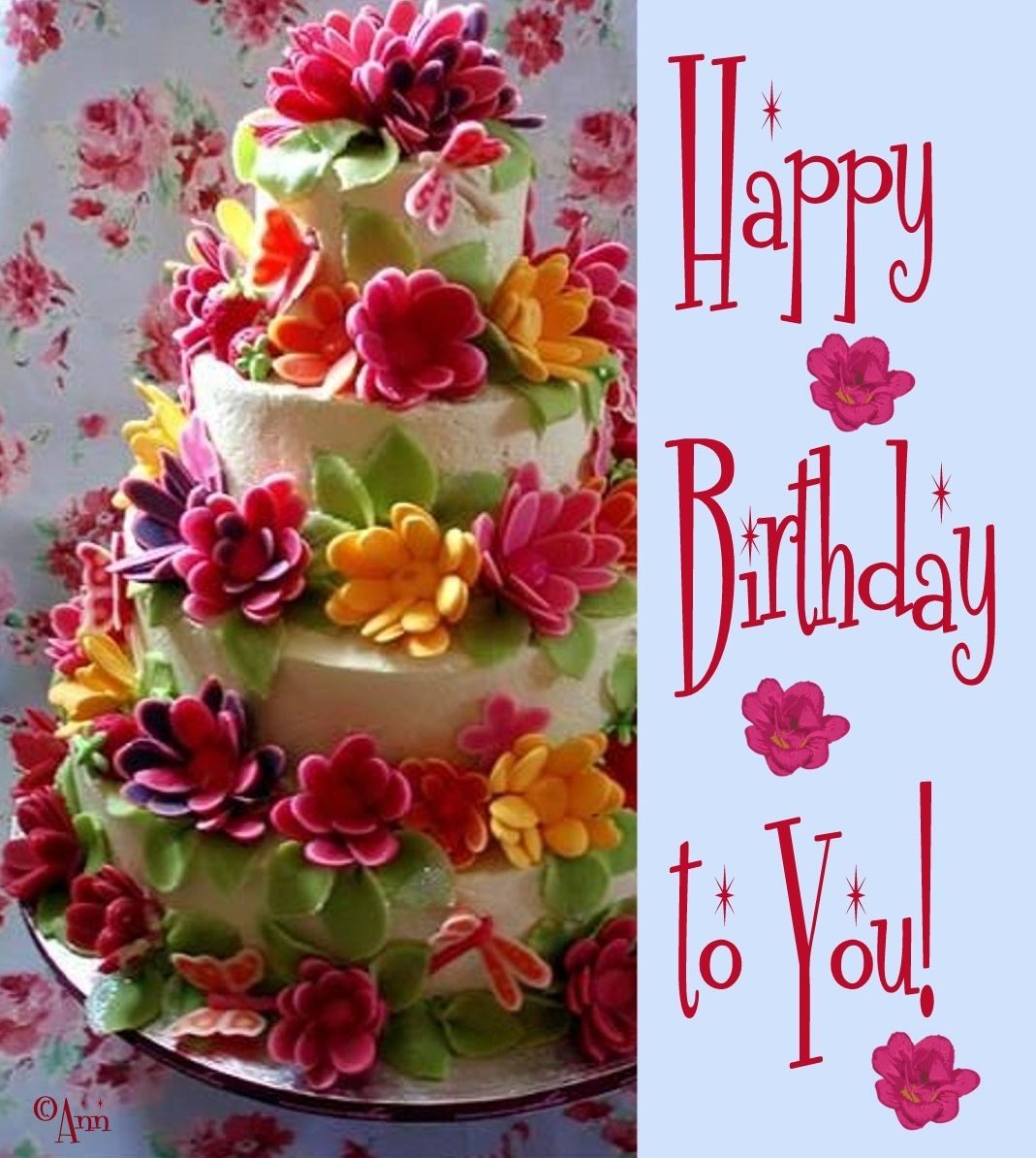 Prime Happy Birthday Cake And Flowers 23 Delectable Floral Cakes Happy Funny Birthday Cards Online Eattedamsfinfo