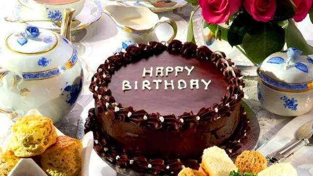 Happy Birthday Cake And Flowers Chocolate Birthday Cake With Flowers Hd Wallpaper Background Images