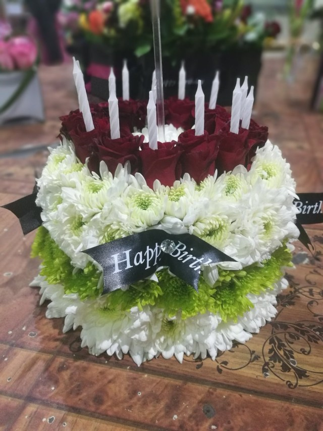 Happy Birthday Cake And Flowers Netflorist On Twitter A Birthday Cake Made Up Entirely Of