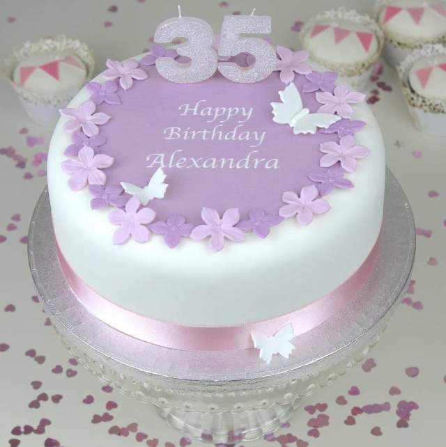 Happy Birthday Cake And Flowers Personalised Birthday Cake Topper Decorating Kit Clever Little