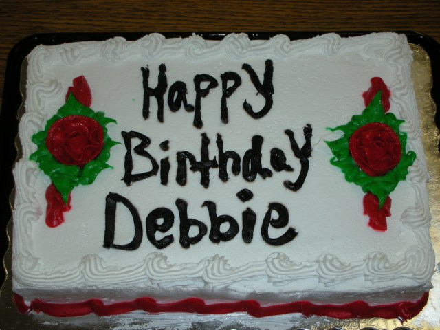 Happy Birthday Deborah Cake Happy Birthday Debbie We Hope You Enjoyed Your Birthday Flickr