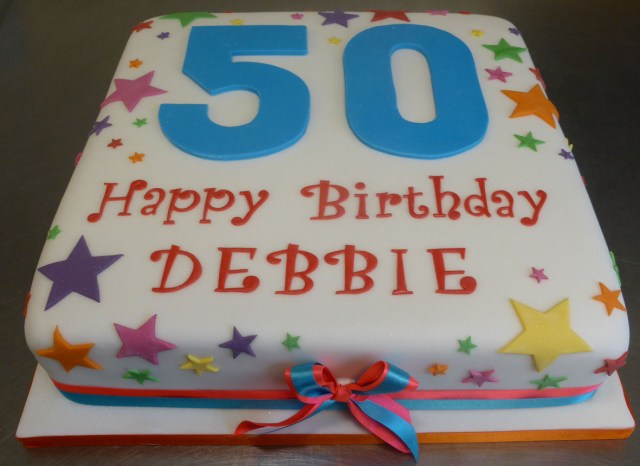 Happy Birthday Deborah Cake L01008 Numbers Lathams Of Broughton