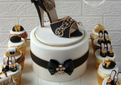 Happy Birthday Shoe Cake A Blingy 70th Birthday Cake For A Shoe Lover Cool Cakes Shoe
