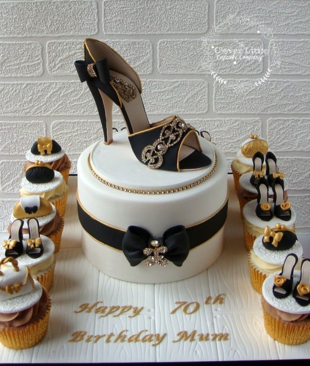 Happy Birthday Shoe Cake A Blingy 70th For Lover Cool Cakes