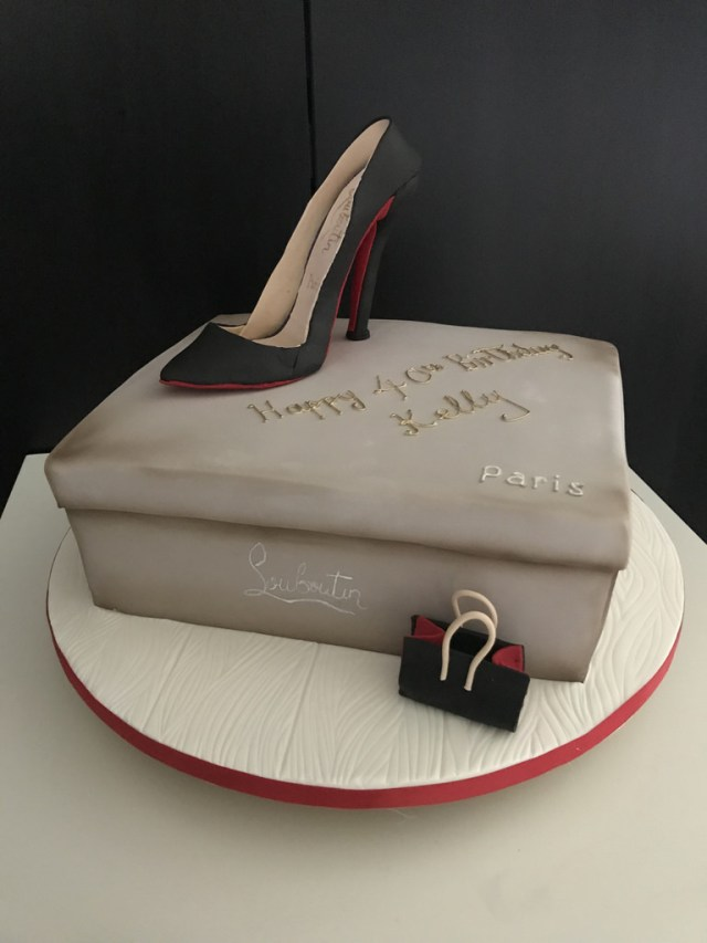 Happy Birthday Shoe Cake Louboutin Shoe Cake For A 40th Happy Birthday Kelly Lou Flickr