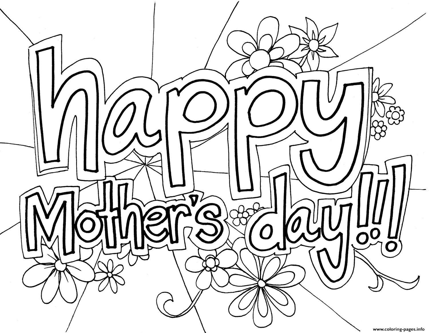 image about Mothers Day Coloring Pages Printable called Delighted Moms Working day Coloring Webpages Free of charge Pleased Moms Working day
