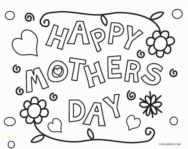 Happy Mothers Day Coloring Pages Free Printable Happy Mothers Day Coloring Pages Free Printable