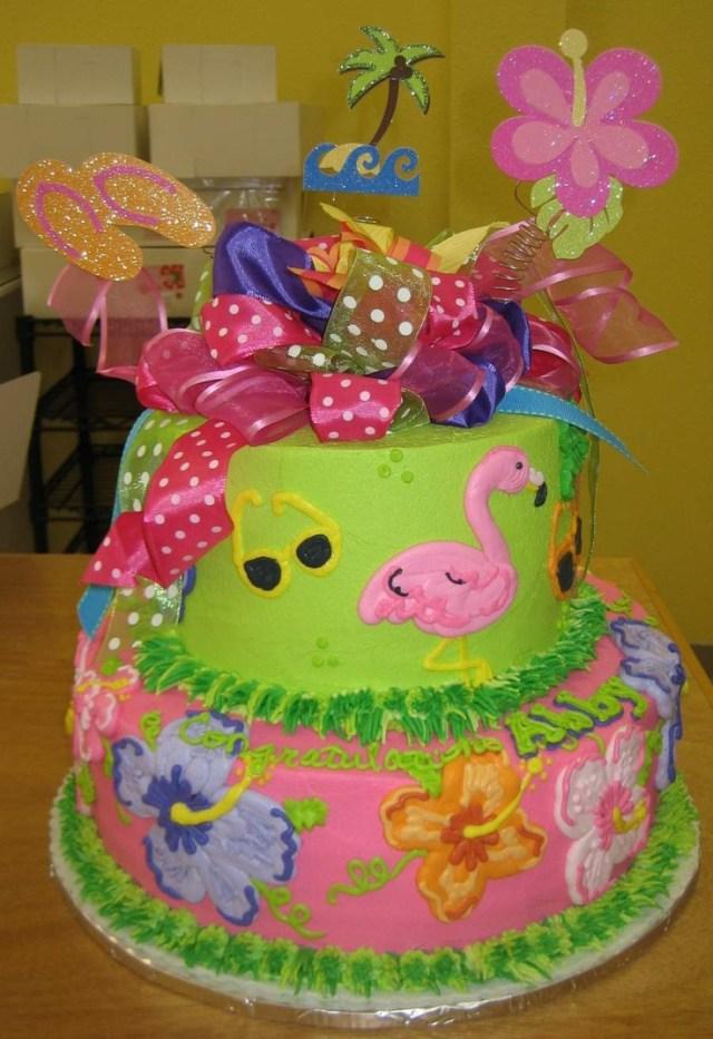 Hawaiian Birthday Cake 10 Girls Luau Birthday Cakes Photo Luau Birthday Cake Luau