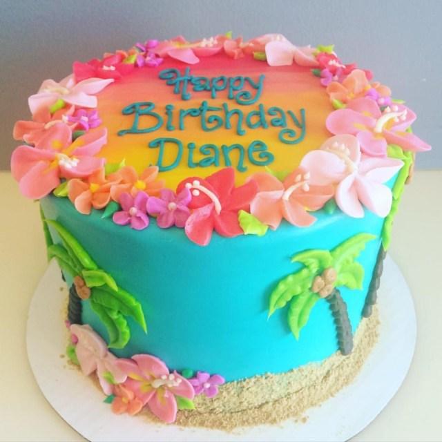 Hawaiian Birthday Cake Hawaiian Birthday Cake Desserts Pinte