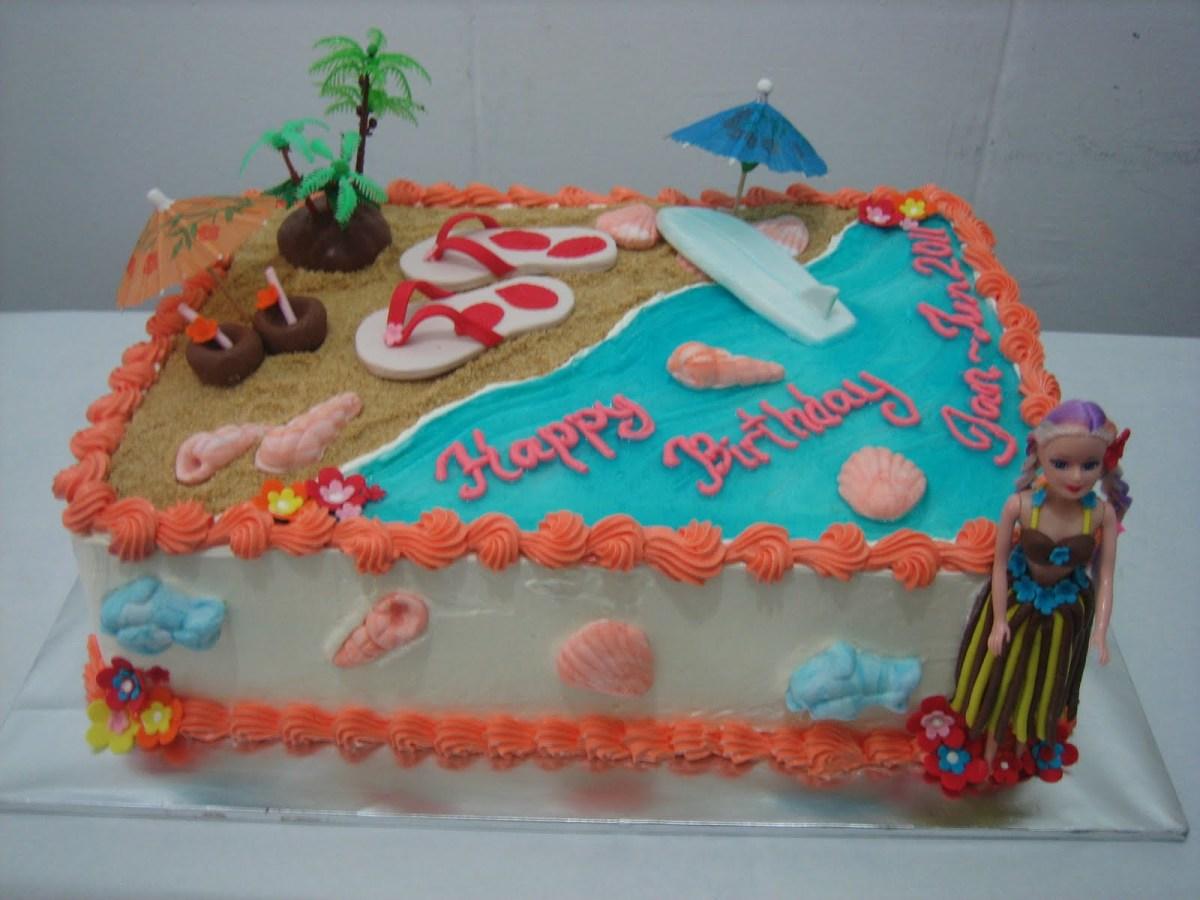 Fabulous Hawaiian Birthday Cake Mas Ayu Confections Hawaiian Beach Birthday Funny Birthday Cards Online Fluifree Goldxyz