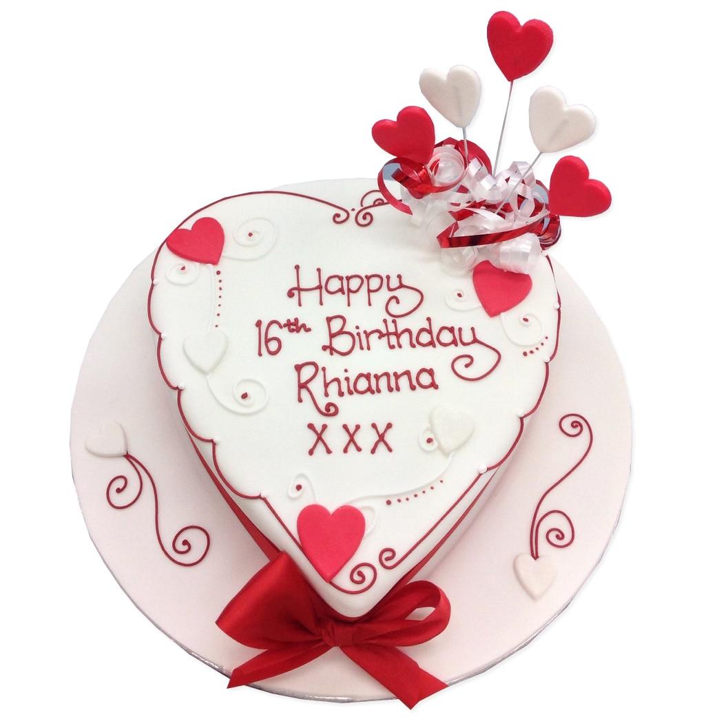 Terrific Heart Birthday Cake Birthday Cakes Delivered In London Birijus Com Personalised Birthday Cards Akebfashionlily Jamesorg