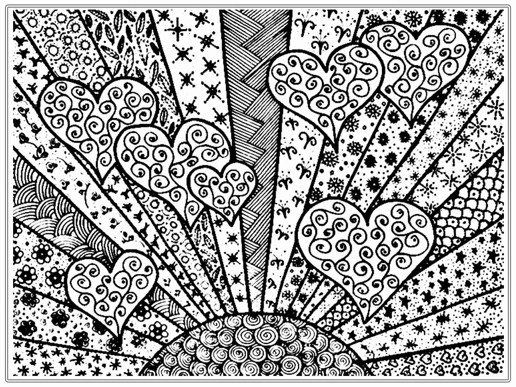 Heart Coloring Pages For Adults Heart Coloring Pages For Adults Unique Photos Happy Valentines Day