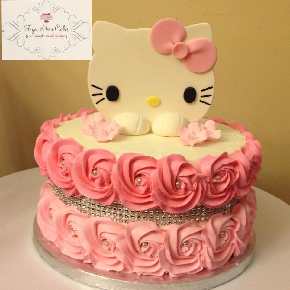 Terrific Hello Kitty Birthday Cakes Hello Kitty Birthday Cake For A 40Th Personalised Birthday Cards Cominlily Jamesorg