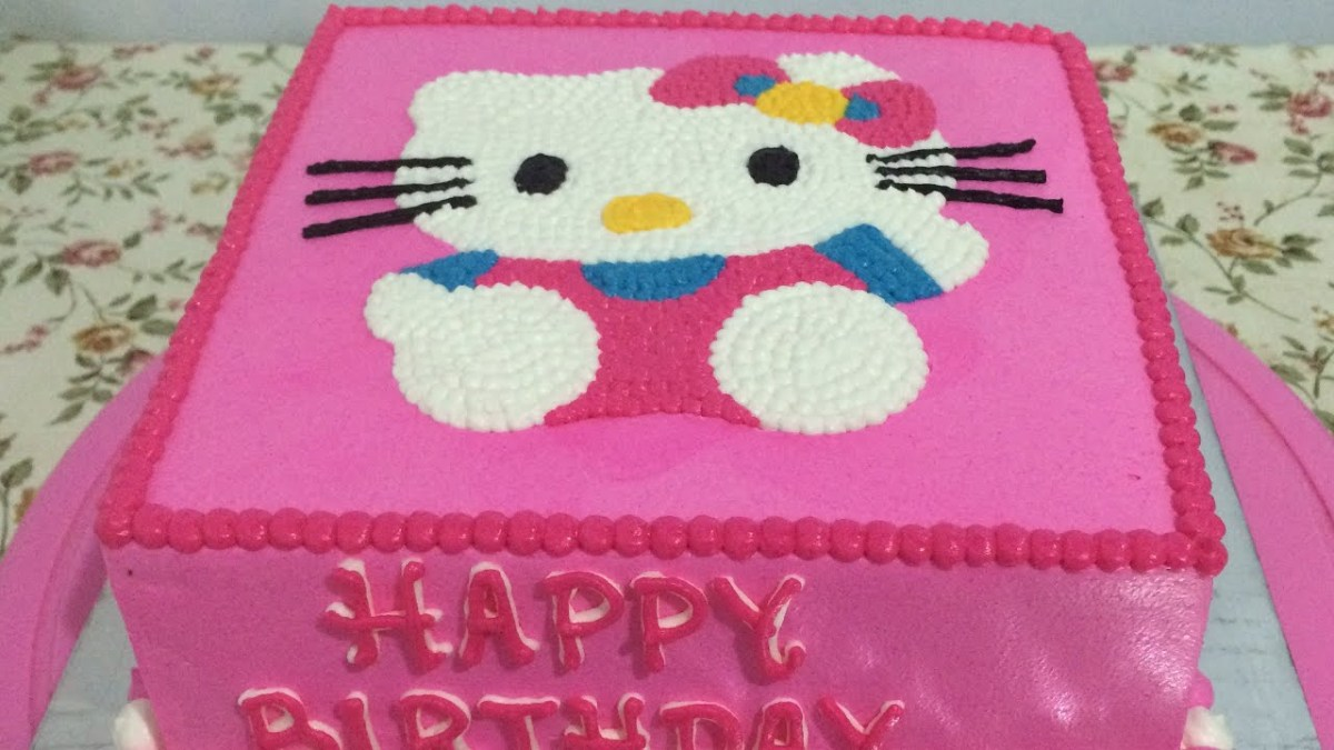 Pleasing Hello Kitty Birthday Cakes Hello Kitty Cake Easy How To Make Personalised Birthday Cards Cominlily Jamesorg