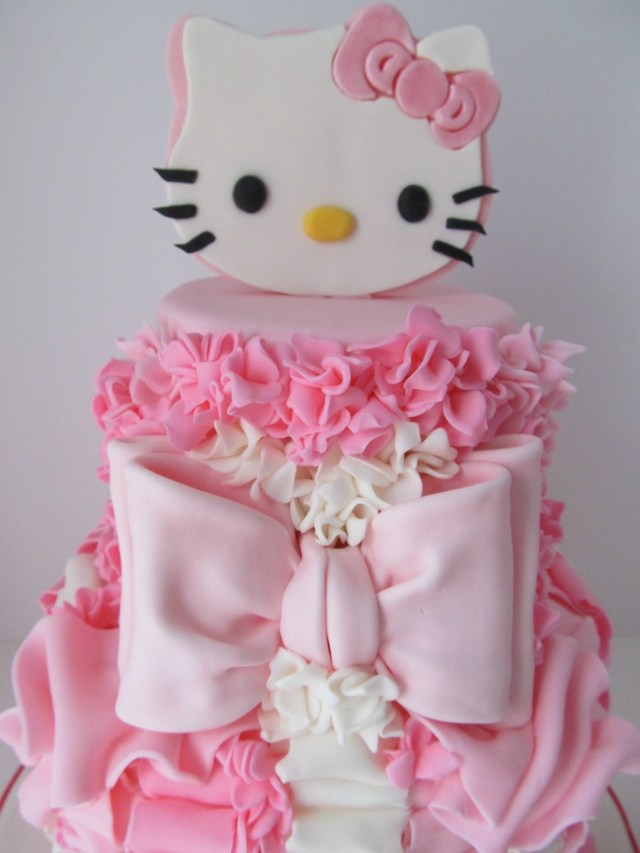 Hello Kitty Birthday Cakes Pretty In Pink 4th Birthday Cake Cakecentral