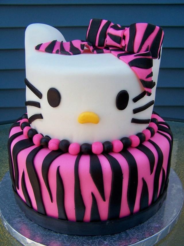 Hello Kitty Birthday Cakes Zebra Print Hello Kitty Birthday Cake Cakecentral