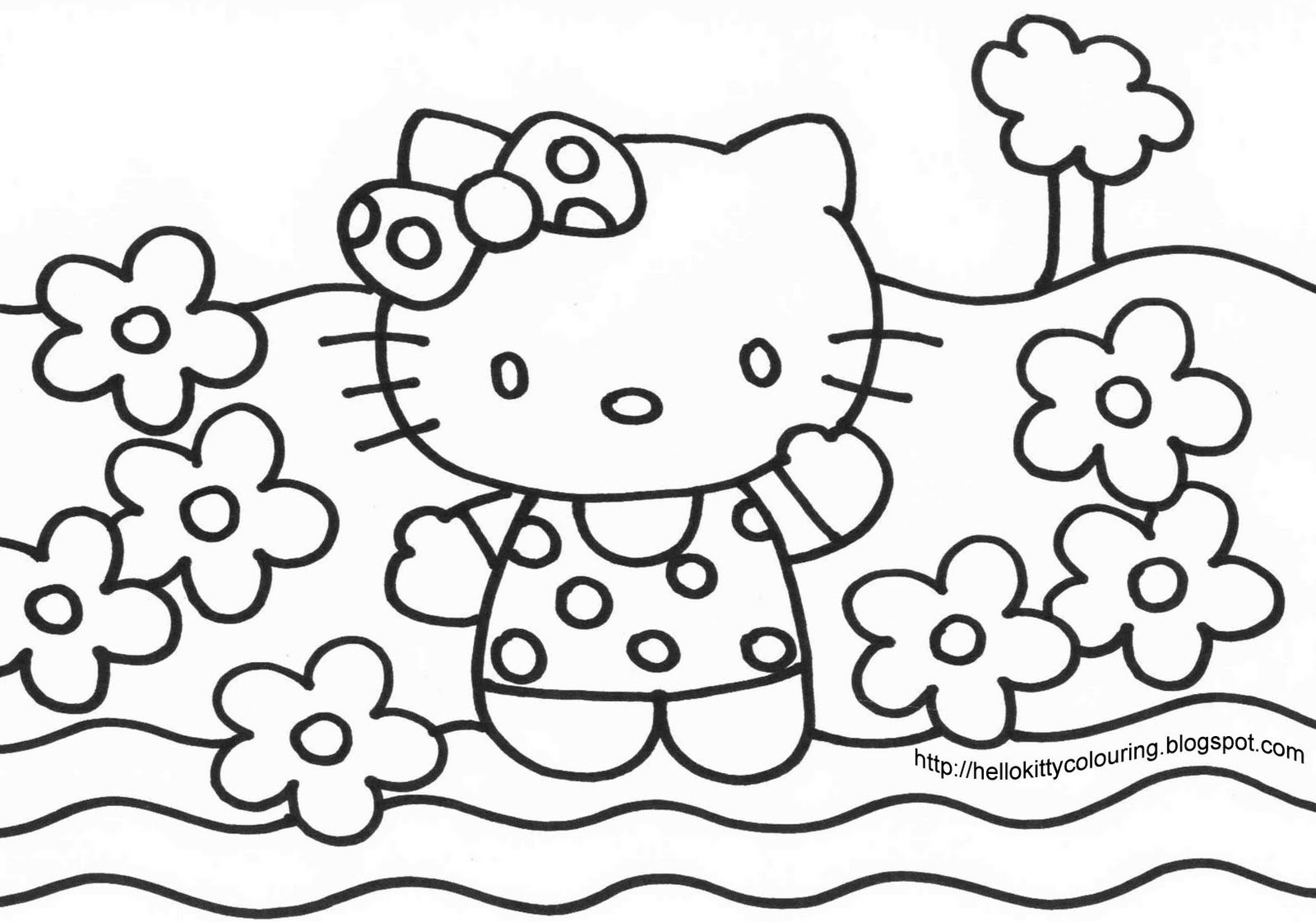 Hello Kitty Coloring Pages Big Coloring Pages Of Hello Kitty With ...