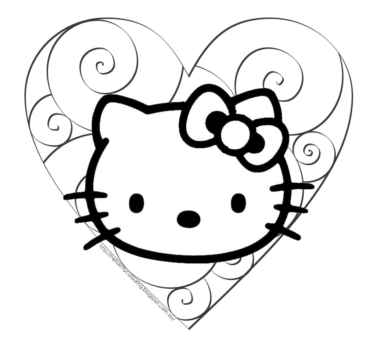 Hello Kitty Coloring Pages Hello Kitty Coloring Pages Stadriemblems