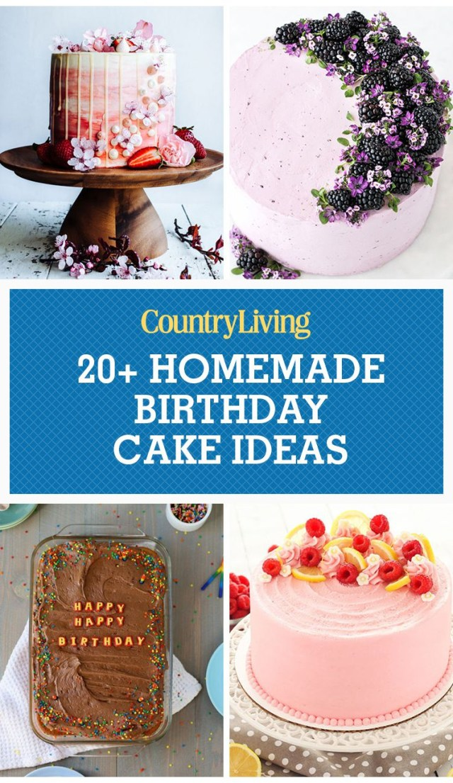Homemade Birthday Cakes 24 Homemade Birthday Cake Ideas Easy Recipes For Birthday Cakes