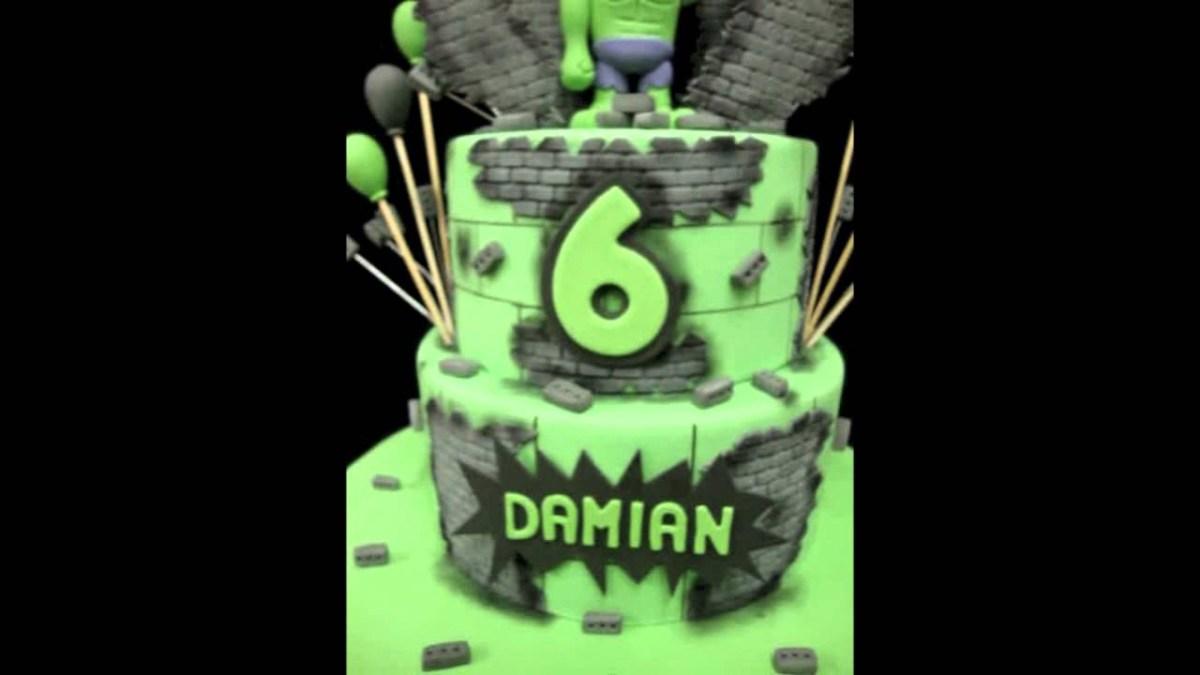 Hulk Birthday Cakes Incredible Hulk Birthday Cake Youtube