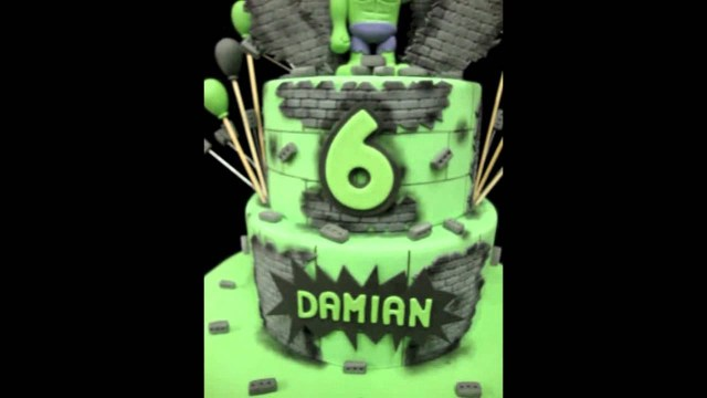 Hulk Birthday Cakes Incredible Hulk Birthday Cake Youtube