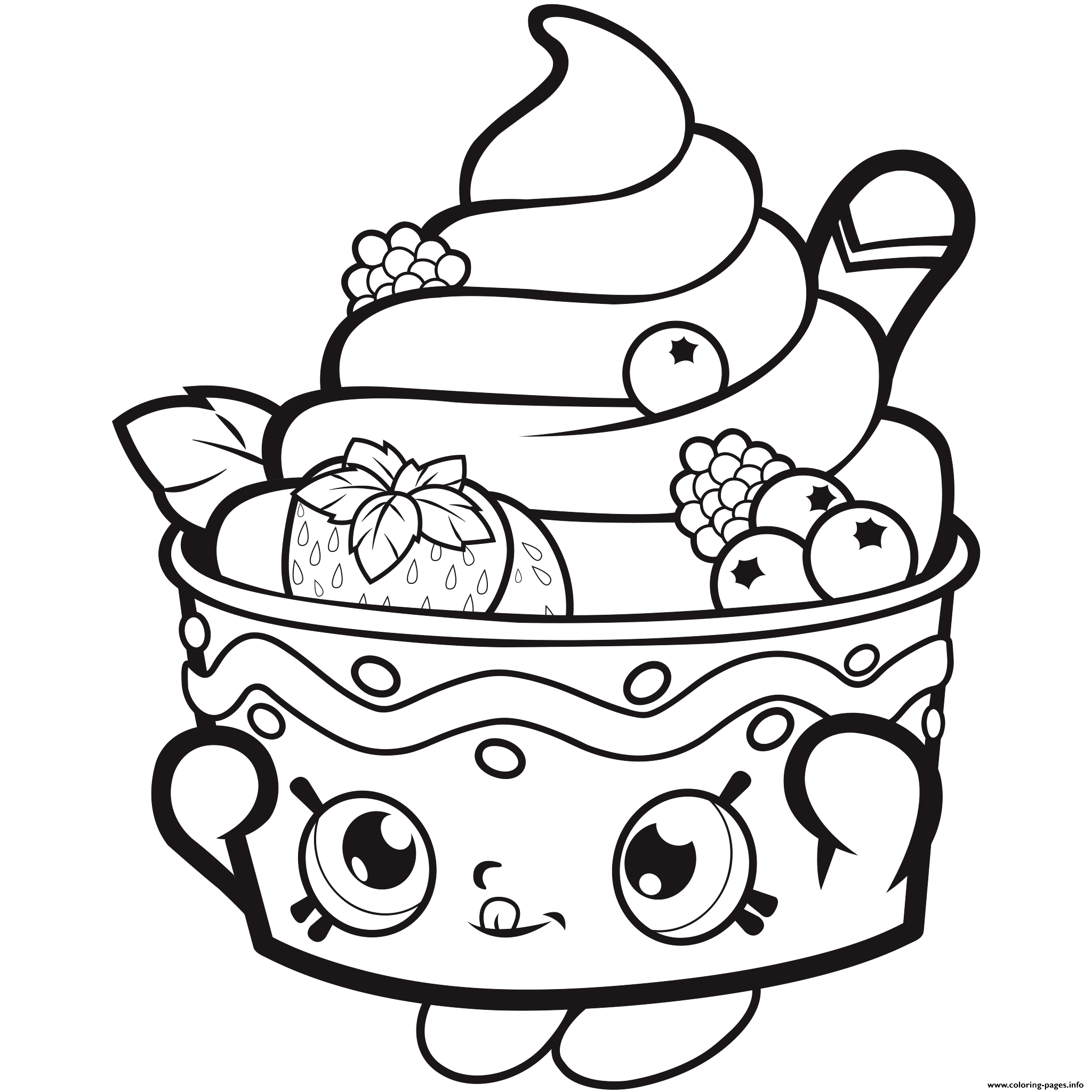 Printable strawberry coloring page. Free PDF download at http ... | 2048x2048