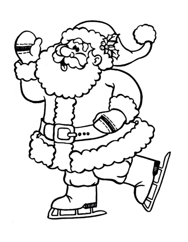 Ice Skating Coloring Pages Santa Claus Ice Skating Christmas Coloring Pages For Kids To Print