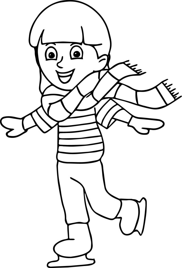Ice Skating Coloring Pages Winter Sport Ice Skating Coloring Page Wecoloringpage