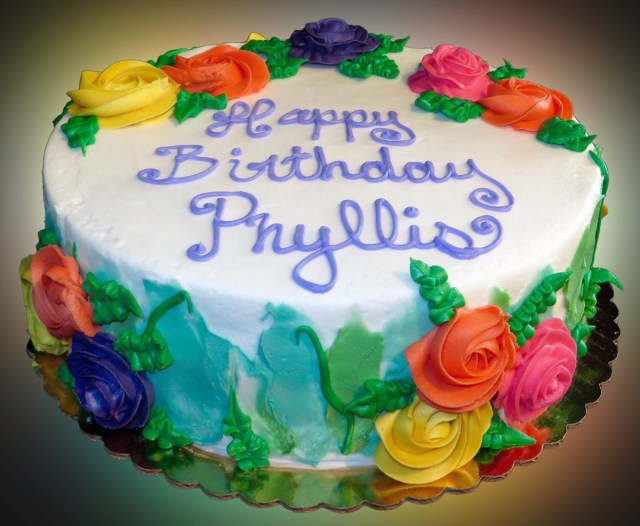 Images Of Happy Birthday Cakes Happy Birthday Cake For Phyllis Sweet Somethings Desserts