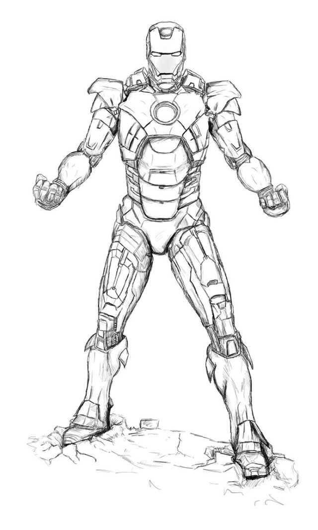 Ironman Coloring Pages Iron Man Flying Coloring Pages At Getdrawings Free For