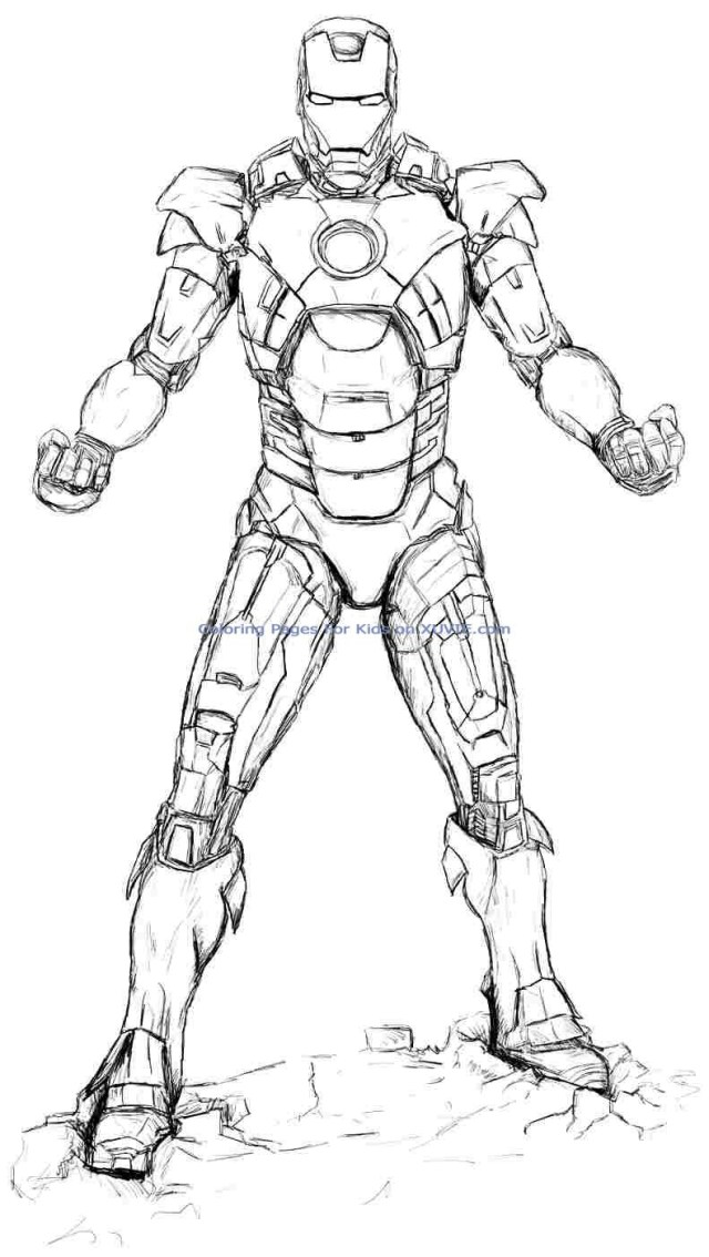 Ironman Coloring Pages Ironman Coloring Page Free Download