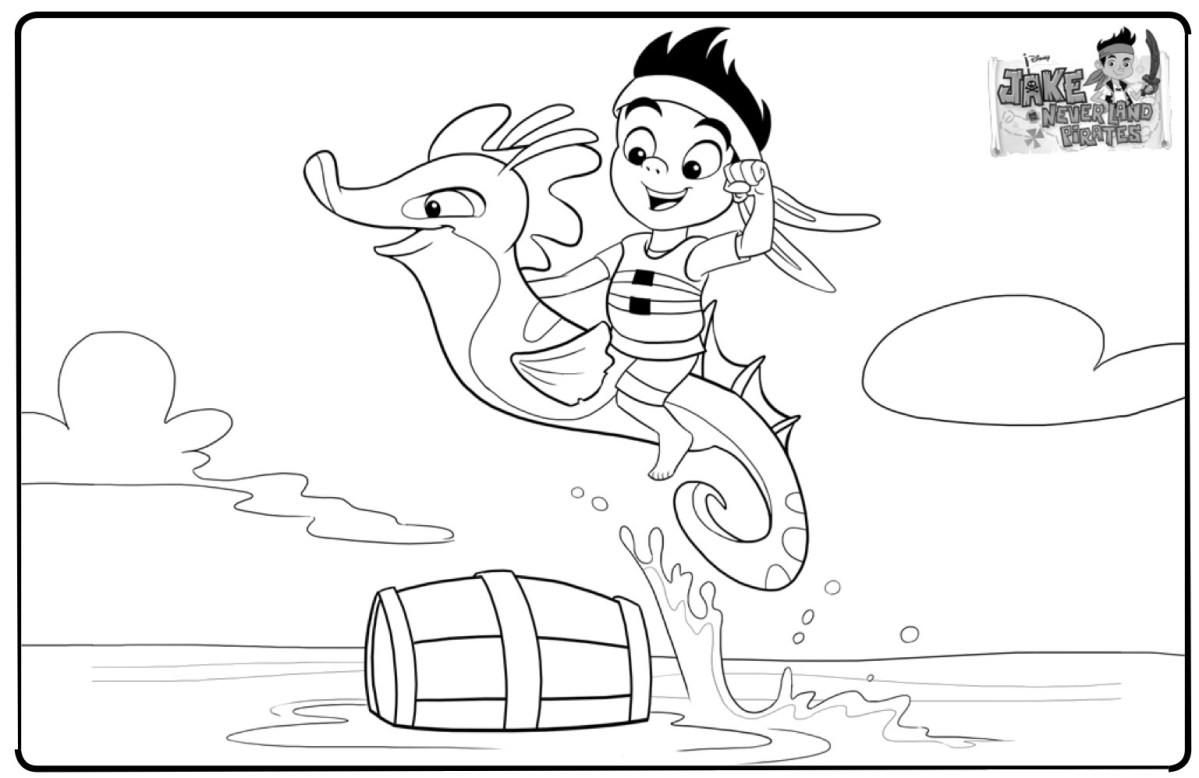 Jake And The Neverland Pirates Coloring Pages Disney ...