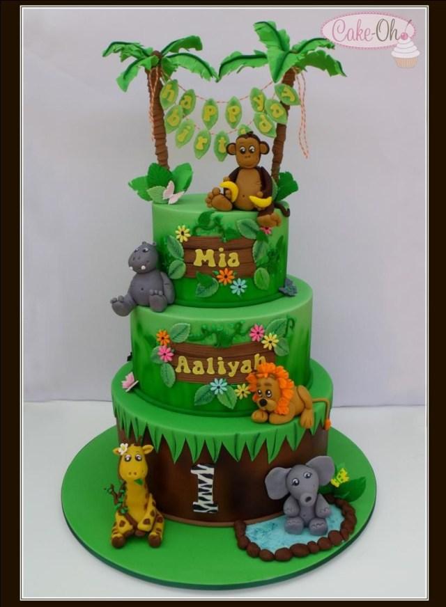 Enjoyable 21 Exclusive Image Of Jungle Birthday Cake Birijus Com Personalised Birthday Cards Bromeletsinfo