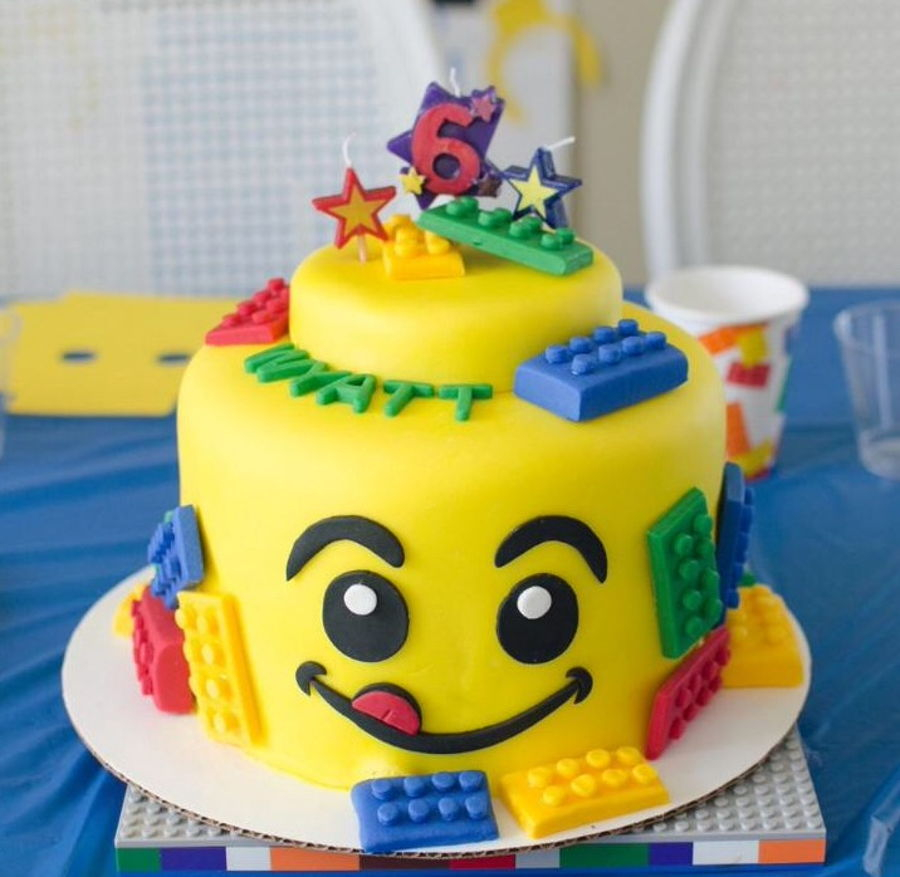 Outstanding Lego Birthday Cake Ideas Lego Cake For 6Th Birthday Party Funny Birthday Cards Online Inifofree Goldxyz
