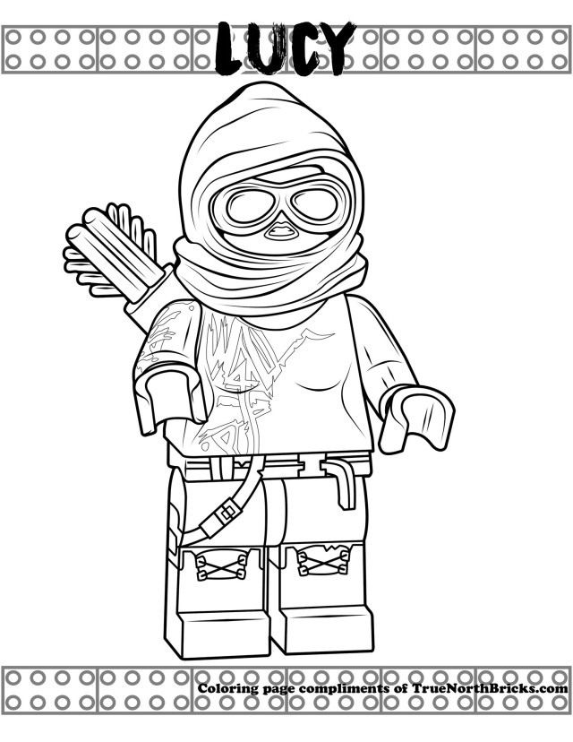 Lego Movie Coloring Pages Coloring Page Lucy True North Bricks