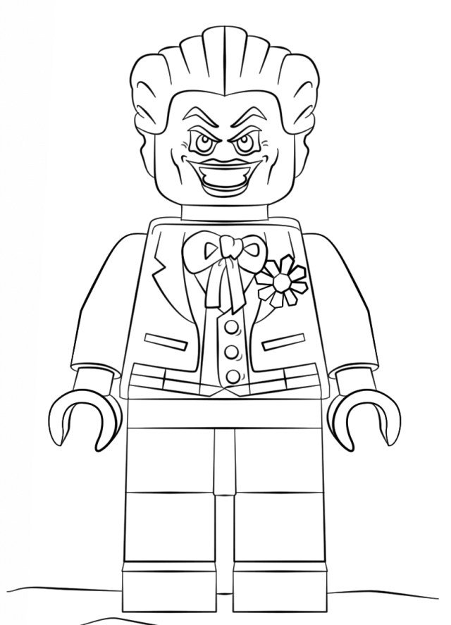 Lego Movie Coloring Pages Joker The Lego Movie Coloring Pages Coloringsuite