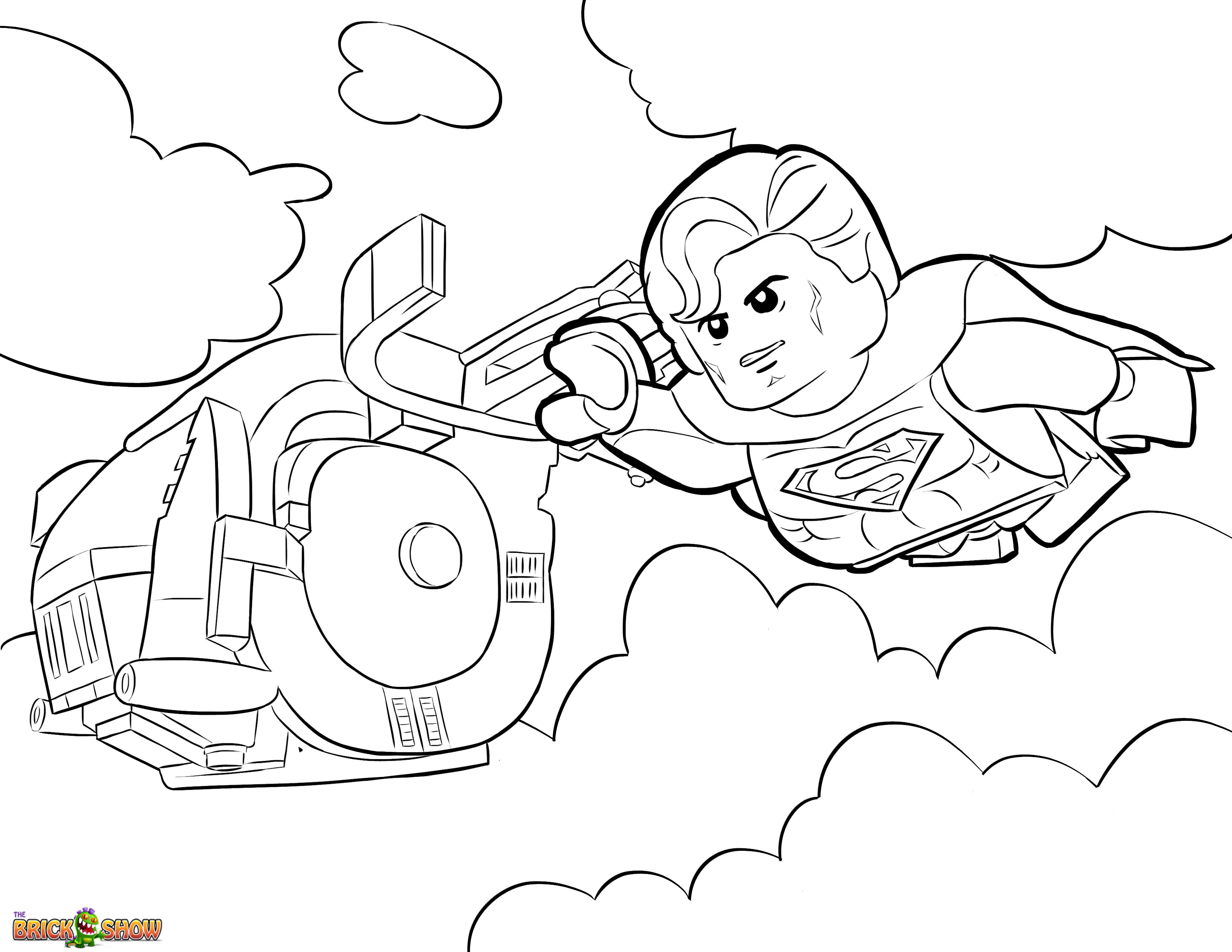 This is an image of Superman Printable Coloring Pages intended for simple