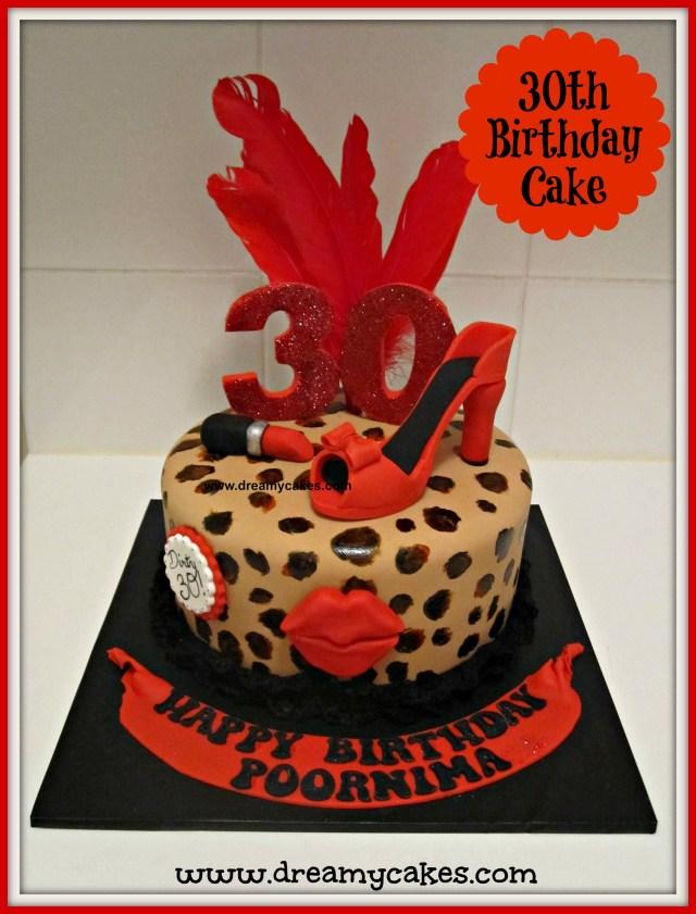 Leopard Birthday Cake 30th Birthday Cake Leopard Print Cake Design