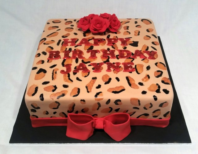 Leopard Birthday Cake Cakes And Other Delights Leopard Print Birthday Cake