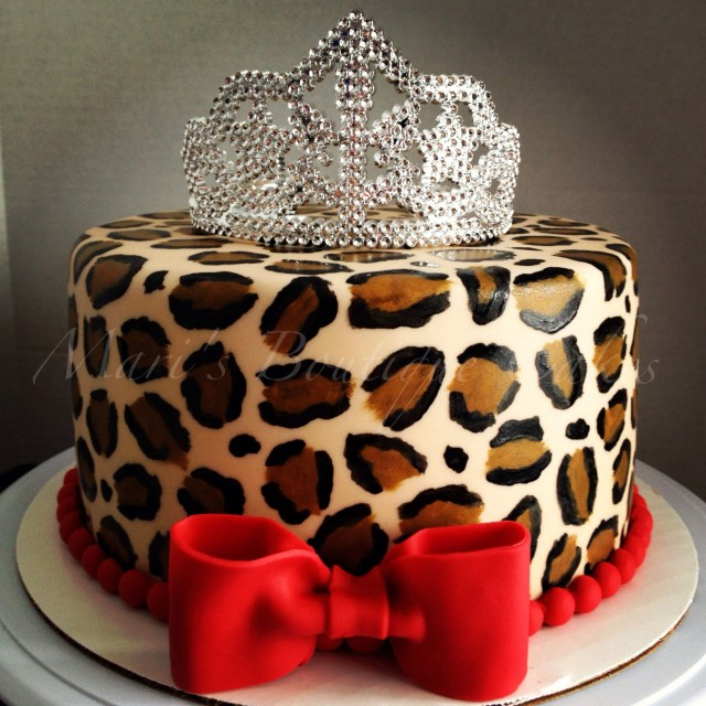 Leopard Birthday Cake Leopard Print Cake For A Little Diva Maris Boutique Cakes