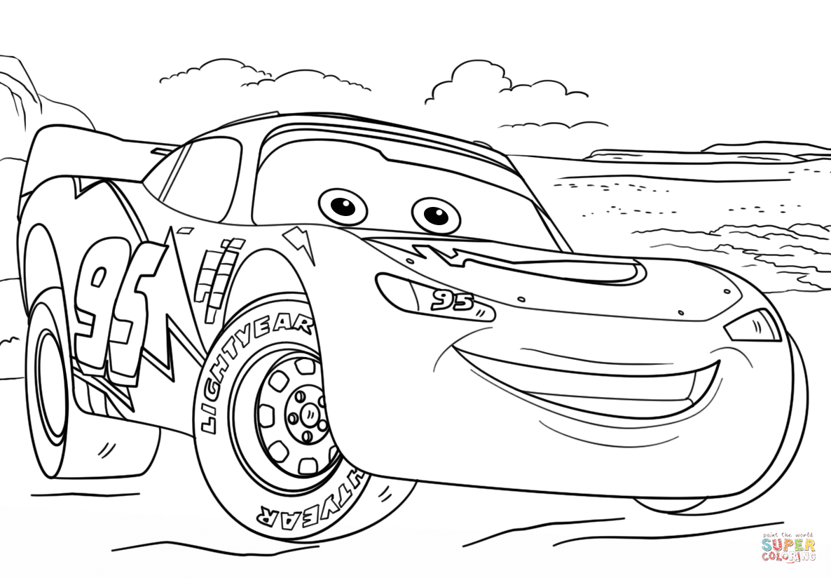 Lightning Mcqueen Coloring Page Lightning Mcqueen From Cars ...