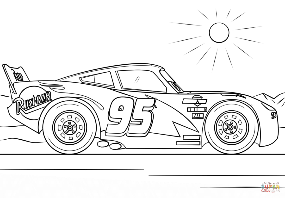 Lightning Mcqueen Coloring Page Lightning Mcqueen From Cars 3 Coloring Page Free Printable Birijus Com