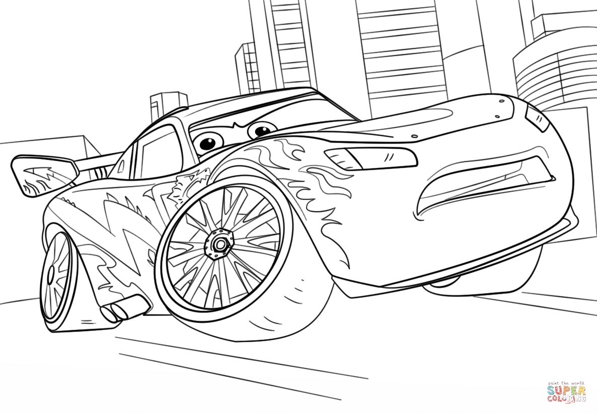 Great Image of Lightning Mcqueen Coloring Page - birijus.com