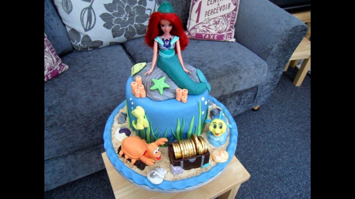 Strange Little Mermaid Birthday Cakes Evies 5Th Birthday Cake Ariel The Birthday Cards Printable Giouspongecafe Filternl