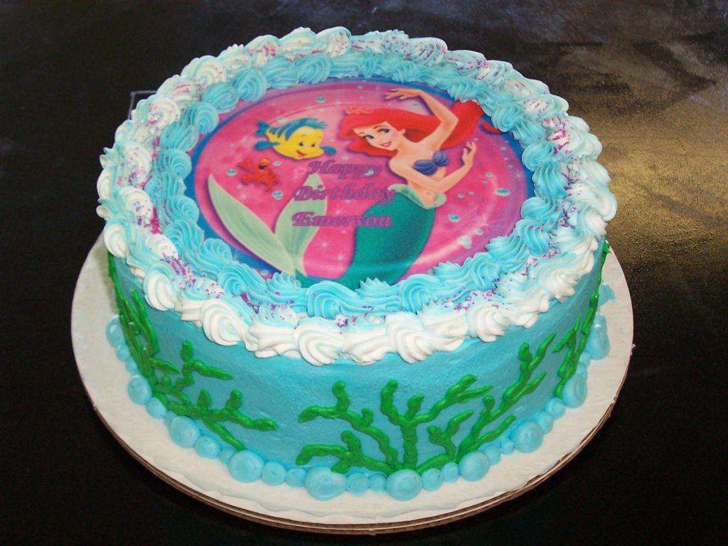 Remarkable Little Mermaid Birthday Cakes The Little Mermaid Birthday Cake Personalised Birthday Cards Beptaeletsinfo