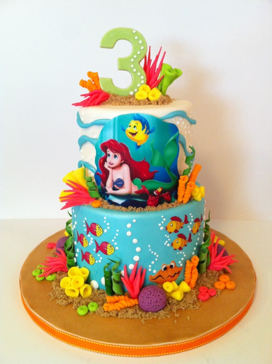 Miraculous Little Mermaid Birthday Cakes The Little Mermaid Cakecentral Funny Birthday Cards Online Elaedamsfinfo