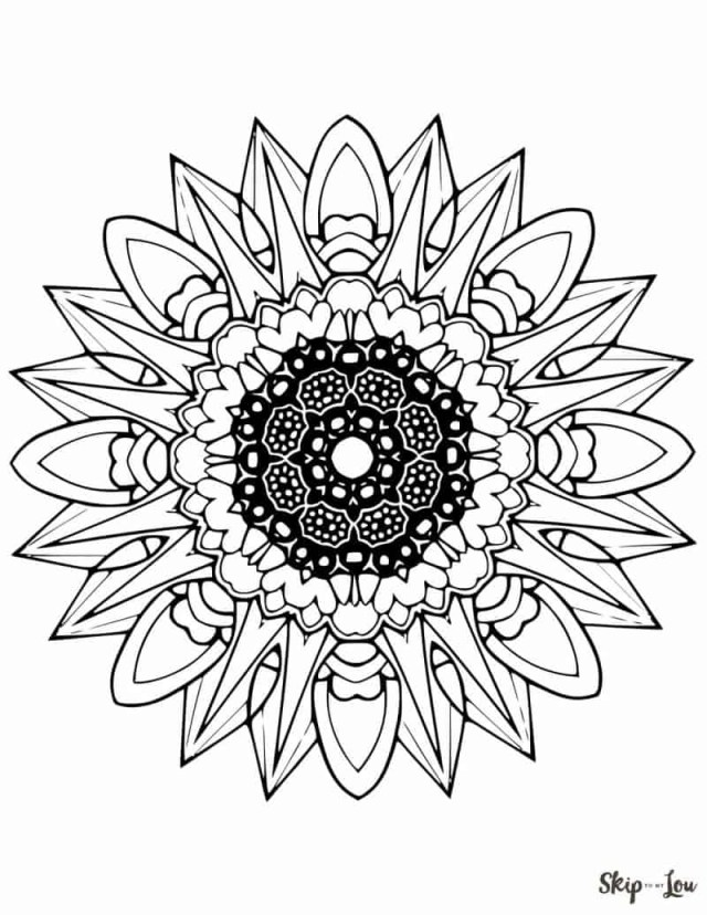 Mandala Coloring Pages Beautiful Free Mandala Coloring Pages Skip To My Lou