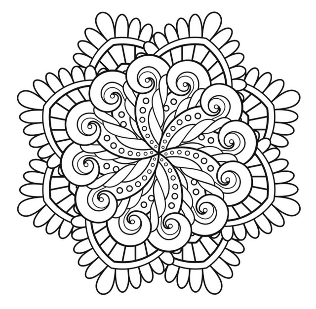 Mandala Coloring Pages Mandala To Print Immortality Simple Mandalas 100 Mandalas Zen