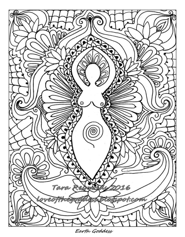 Mandala Coloring Pages Printable Mandala Coloring Page Printable Coloring Page Goddess Etsy