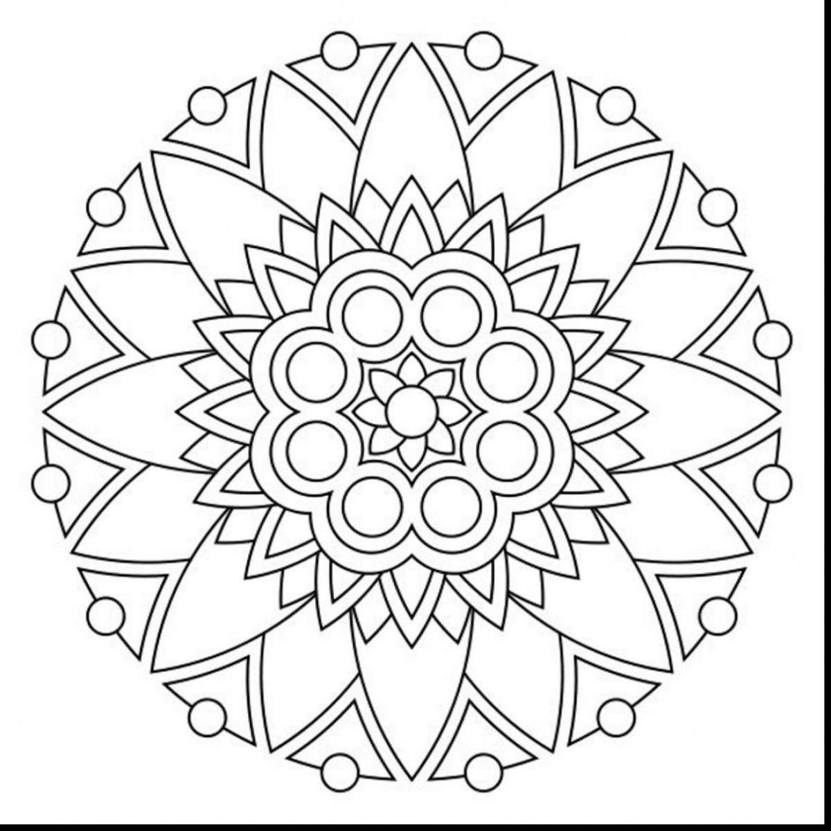 Mandala Coloring Pages Printable Simple Mandala Coloring Pages At Getcolorings Free Printable Birijus Com